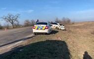 В Запорожской области два авто копов попали в ДТП