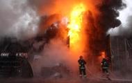 Масштабный пожар произошел в Хмельницком