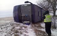 Под Одессой перевернулся автобус с 19 пассажирами