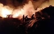 На Киевщине сгорел ангар деревообрабатывающего цеха