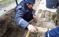 Біля школи на Запоріжжі знайшли майже сотню гранат