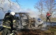 В Одесской области на трассе загорелась маршрутка