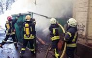 Несколько кварталов Киева затянуло дымом от пожара