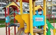 В Киеве грозят штрафами за посещение детских площадок