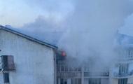 На Люстдорфской дороге ночью загорелась многоэтажка