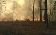 В зоне отчуждения в Чернобыле горит лес