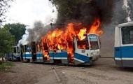 В Днепре загорелся на ходу трамвай