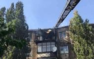 Палаючий дах багатоповерхівки в Новій Каховці загасили