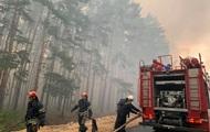 В ГСЧС отчитались, как идет тушение лесного пожара на Луганщине (ВИДЕО)