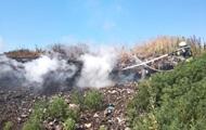 В Киевской области загорелась свалка