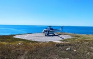 На острів Зміїний вперше за 12 років сів прикордонний вертоліт