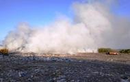 У Житомирській області спалахнула велика пожежа на звалищі
