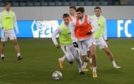 Игроки сборной Украины провели тренировку накануне матча со Швейцарией