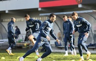 Игроки сборной провели тренировку накануне матча против Швейцарии