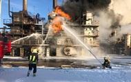 В Калуше возник пожар на химическом заводе