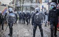 В Бельгии протест разгоняли водометами и газом