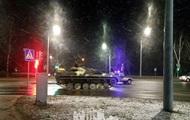 По улицам Гродно двигалась военная бронетехника