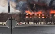 В Петербурге вспыхнул крупный пожар, есть жертвы