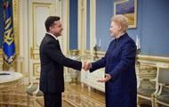 Зеленський зустрівся з екс-президентом Литви Ґрибаускайте