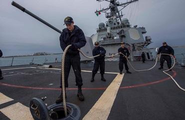 В Черное море вошел американский эсминец Carney