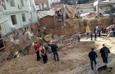 Обвал на стройке в Виннице: трое пострадавших