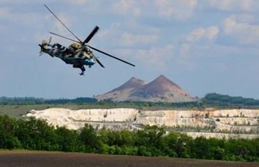 Украинские вертолетчики провели учения на Донбассе