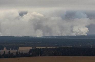 Из-за взрывов в Ичне горели несколько зданий