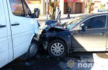В Ровно офицер патрульной полиции пострадал в ДТП