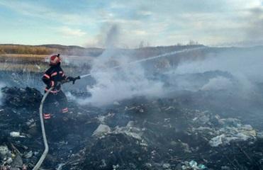 В Черновицкой области загорелась свалка
