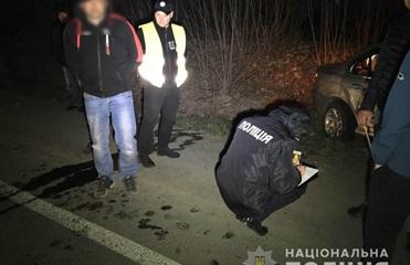 В Ровенской области пьяный водитель травмировал двух полицейских