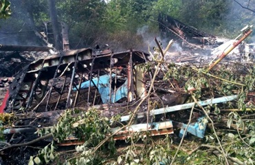 В Украине самолет сгорел после аварийной посадки