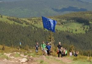 На Говерле установили флаг Европы