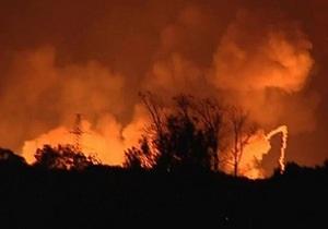 Причиной пожара, вызвавшего взрывы в Удмуртии, могла стать утечка топлива