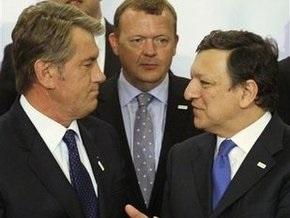 Ющенко обсудил с Баррозу перспективы реализации Восточного партнерства