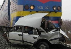 Аварии на ж/д переездах в Украине в этом году. Справка