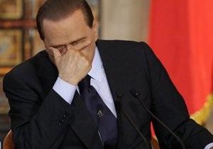В Италии пять телеканалов оштрафовали за трансляцию выступления Берлускони