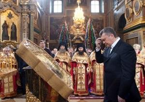 Янукович после праздников вернулся в Киев