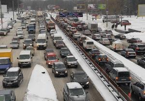 Пятничные пробки: в Киеве затруднено движение транспорта