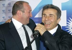 Смена власти. Противники Саакашвили празднуют победу с 60% голосов