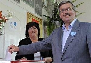 Качиньский и Коморовский проголосовали на выборах президента Польши