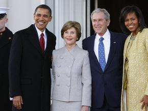 Обама выпил кофе с Бушем и направился в Капитолий