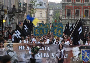Во Львове состоялся марш памяти воинов дивизии Галичина