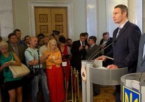 Кличко о встрече с Януковичем: Мы против посиделок для  галочки