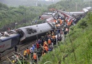 Крупная железнодорожная авария произошла в КНР