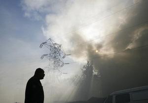 Экологи предполагают, что из-за пожаров в воздух над Киевом попал диоксин