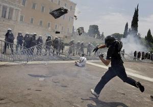 В Афинах около 100 человек попали в больницу после массовых беспорядков