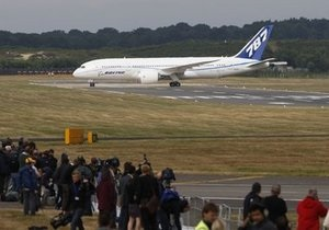 Boeing-787 Dreamliner  впервые пересек Атлантику