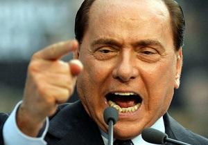Сильвио Берлускони устроил перепалку с ведущим в прямом эфире телевизионного шоу