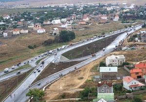 На въезде в Севастополь открыли двухуровневую дорожную развязку
