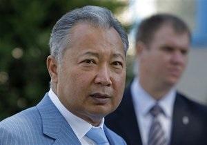 Бакиев: Россия и США не имеют отношения к событиям в Кыргызстане